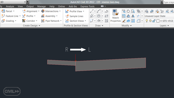 Cross sections from right to left in Autodesk Civil 3D